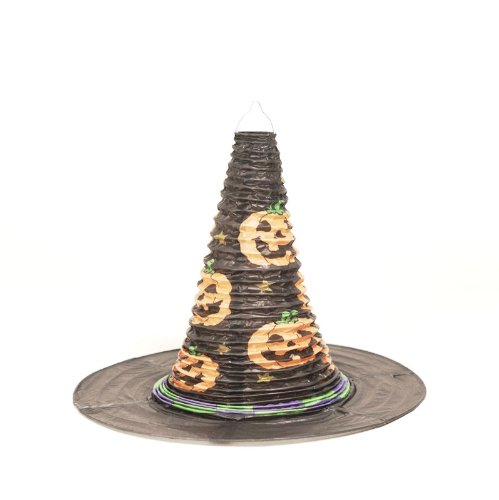 Creative Converting Halloween Witches Hat Shaped Paper Lantern - 1