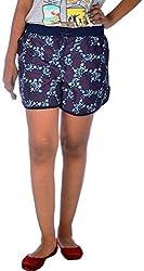 Klorophyl Women's Cotton Shorts (KB1602_L, Multi-Coloured, L)