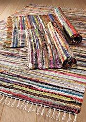 Fair Trade Hand Loomed Multi Coloured Rag Rug 75cm x 120cm