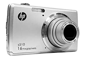 VistaQuest HP S510H 720P Camera 16MP Camera with 2.7-Inch LCD- Body Only (Silver) by VistaQuest