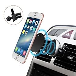 Budget&Good® Universal Car Magnetic Holder Air Vent Mount Car Mobile Phone Holder 360°Adjustable Rotating Air Vent Car Stand Cradle for iPhone SE,6s Plus 6s 5s 5c HTC LG Samsung Galaxy S7 Edge S6