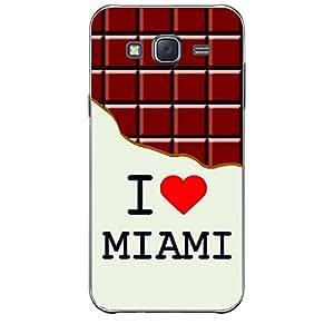 Skin4gadgets I love Miami - Chocolate Pattern Phone Skin for SAMSUNG GALAXY J2