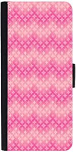 Snoogg Star Pink Circular Pattern Graphic Snap On Hard Back Leather + Pc Flip...