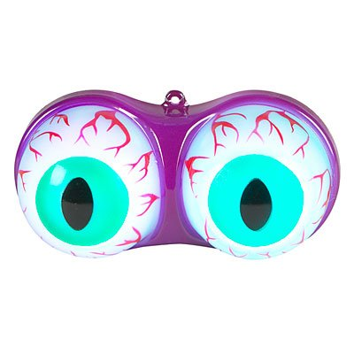 Color Changing Led Eyeballs Flashing Eyes Lights Halloween Decoration Battery Operated (4 1/4 Inches Wide)