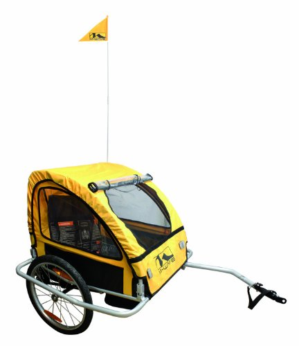 M-Wave Foldable Bicycle Trailer With Suspension (Yellow/ Black, 60 X 75 X 58-Cm) front-633873