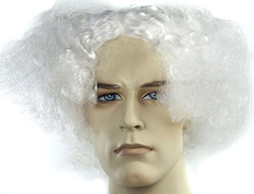 White Mens Wig Doc Brown Back To The Future Mark Twain Albert Einstein Adult