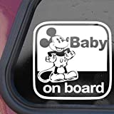 DISNEY White Sticker Decal MICKEY MOUSE Wall Laptop Die-cut White Sticker Decal