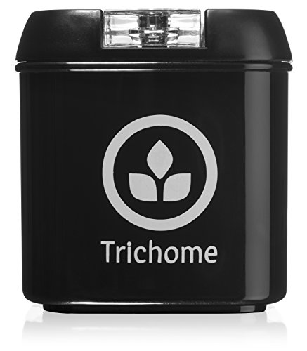 Trichome DankTank - 5-Ounce Airtight Smell Proof Container Storage Stash Jar and Herbal Container - Black (Vacuum Stash Jar compare prices)