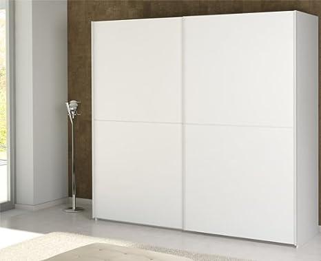 Schiebeturenschrank Kleiderschrank 215321 weiß 2-turig 219 cm