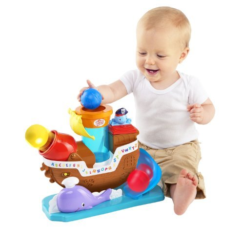 Bright Starts Having A Ball Toys, Pop And Rock Pirate Ship Color: Pop And Rock Pirate Ship Toy, Kids, Play, Children front-795704