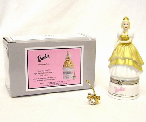 Celebration Barbie Porcelain Hinged Box - 1