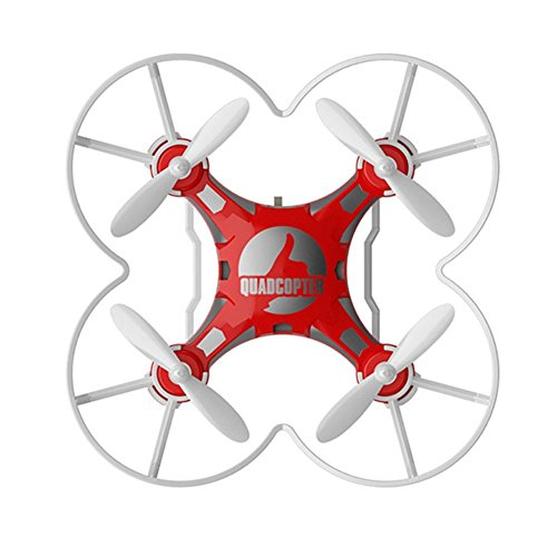 ELENKER-mini-Quadcopter-Drohne-RC-Helikopter-3D-360--Flip-4-Kanal-6-Axen-LED-Licht-Switchable-Controller-Rot