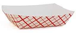 Southern Champion Tray 0405 #40 Southland Paperboard Red Check Food Tray, 6 oz Capacity (Case of 1000)