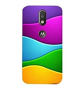 99Sublimation Animated Pattern With Waves 3D Hard Polycarbonate Designer Back Case Cover for Motorola Moto G4 Plus