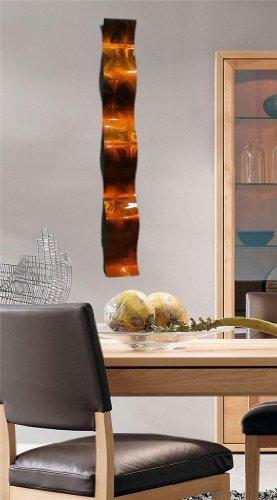 Copper 3D Abstract Metal Wall Art Sculpture Wave - Modern Home Décor by Jon Allen - 46.5