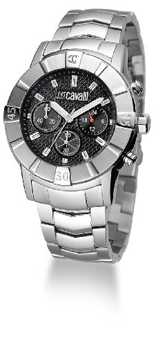 Just Cavalli Crystal Gent Just time R7273661025 - Reloj unisex de cuarzo, correa de acero inoxidable color plata