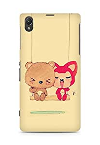 Amez designer printed 3d premium high quality back case cover for Sony Xperia Z1 C6902 (Cute Dolls)