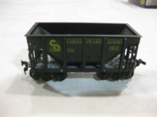 Miniature Model Train Black Chesapeake & Ohio Ore Car Kit Series, Model #1408 Scaled From Official Blue Prints in an HO scale Ready to Run - Perfectly Detailed by RoundHouse Products
