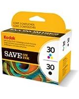 Kodak Genuine 30B/ 30CL Ink Cartridge Combo Pack - Black & Colour (335/ 390 Pages)