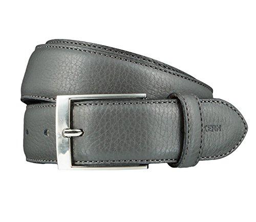 OTTO KERN Cintura di uomini Cintura di Pelle bigio, Länge:115 cm;Farbe:grau