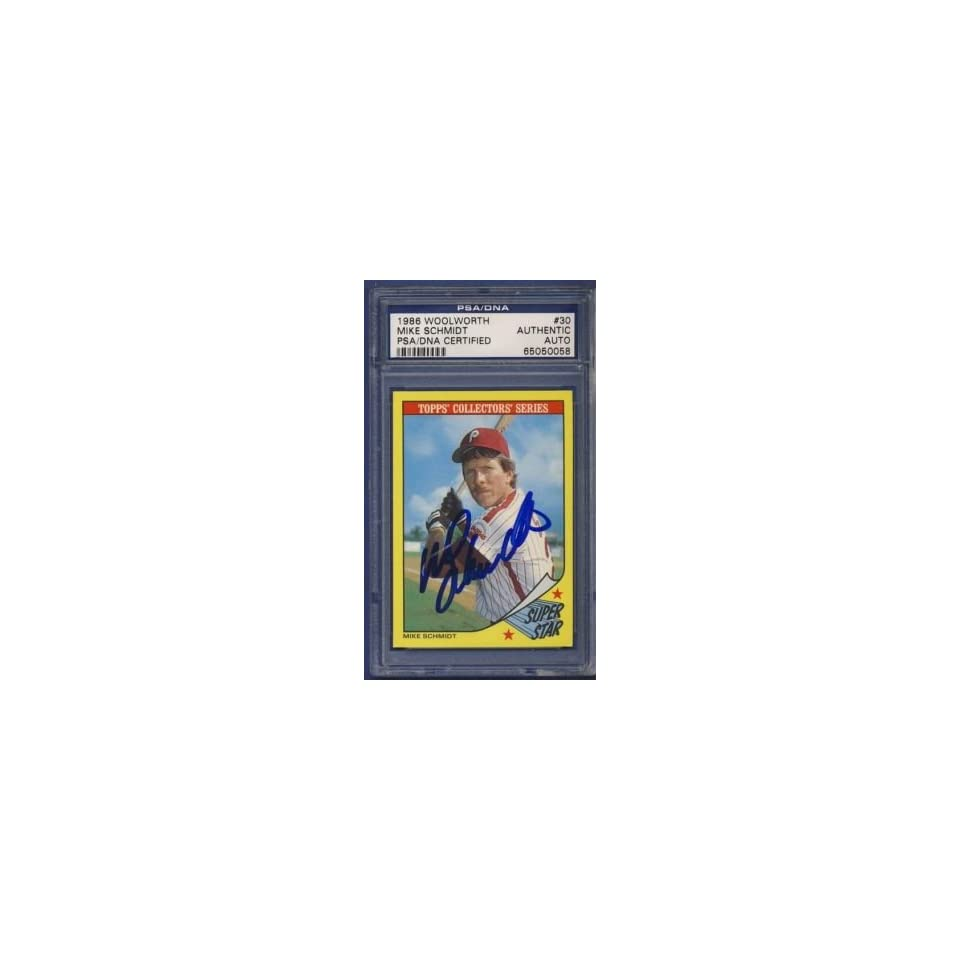 1986 Topps MIKE SCHMIDT Auto/Signed Card PSA/DNA