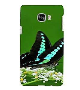 PrintVisa Butterfly Design 3D Hard Polycarbonate Designer Back Case Cover for Samsung C7