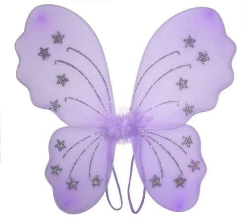 Purple Star Butterfly Wings Dress Up Fairy Girl Birthday Party Halloween Costume