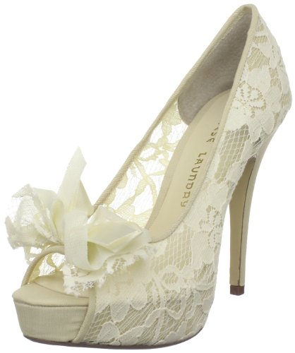 Chinese Laundry Women's Hotline Platform Pump,Ivory,8 M US