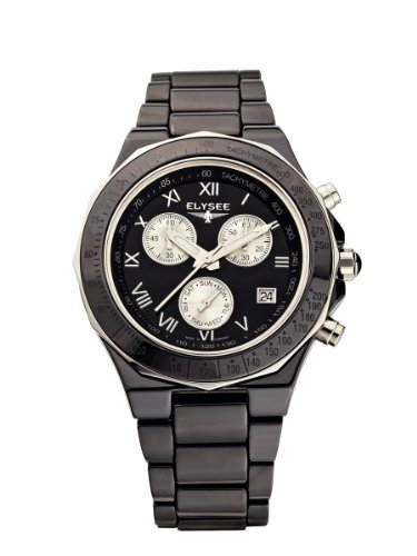 Elysee - 30003 - Montre Femme - Quartz Chronographe - Bracelet céramique Noir