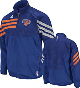 NBA adidas New York Knicks Royal Blue On-Court West Full Zip Jacket by adidas