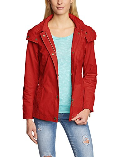 ESPRIT - 035EE1G008, Trench da donna, rosso (rot  (wax red 634)), 38