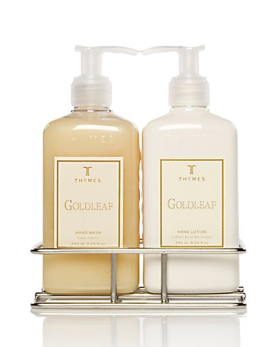 Thymes hand wash and lotion with chrome caddy sink set Hand wash and lotion caddy