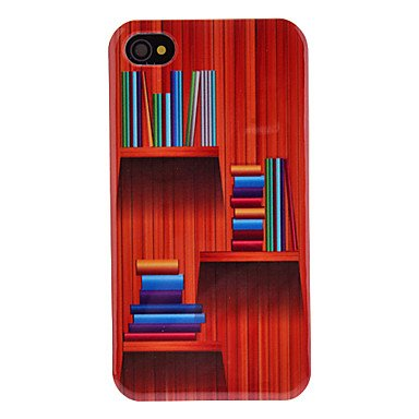 Bunte Muster Bücherregal transparentes Feld Hard Case für iPhone 4/4S