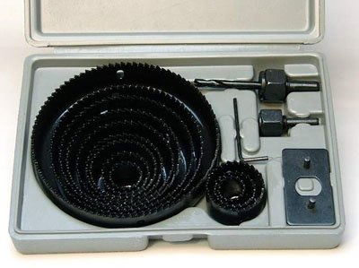 HOLE SAW SET - 16 pc Hole Saw Kit- 3/4