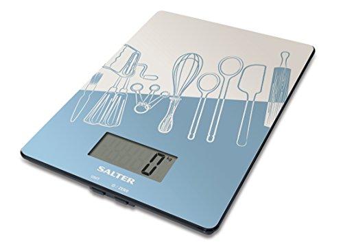 Salter 2049790 Balance de Cuisine avec de Motive de la Cuisine Plastique Vert 23 x 17 x 3 cm