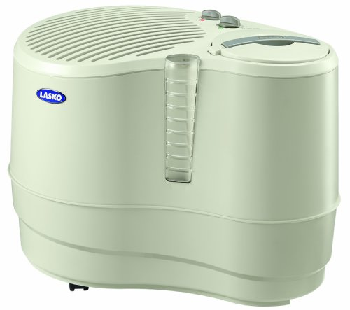 Lasko 1128 Evaporative Recirculating Humidifier, 9-Gallon - 1