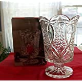 Fifth Avenue Crystal Ribbon And Tree 7 1/2 H Hurricane Candle Holder Candle Not Included