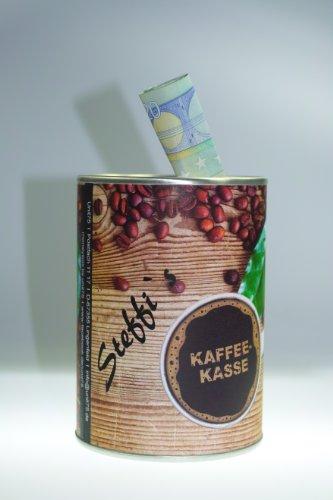 """Spardose """"Kaffeekasse"""" - Indiviualisierbar mit Namen in zwei Schriftarten - Design Konserve"""
