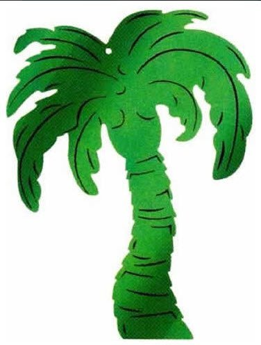 Palm Tree Embossed Foil Cutout