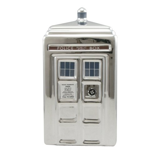 Doctor Who TARDIS 3-D Ceramic Silver Bank