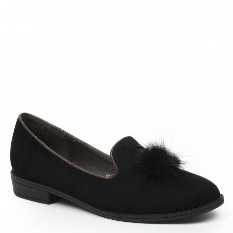 Ideal Shoes, Mocassini donna, Nero (nero), 37