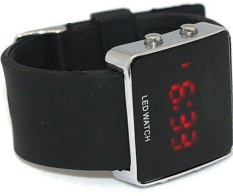 Mirror Men Lady LED Digital Sport Unisex Watch