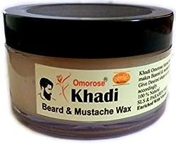 Khadi Beared & Mooch WAX (Balm) 50 gm (With Cedarwood Oil ,Vitamin E, Jojoba oil) {No Paraffin Wax}