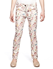 Autograph Cotton Rich Bird Theme Jeans