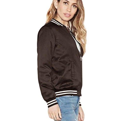 """Elegante Moda, Reasoncool Le donne del cappotto di inverno di autunno Via Jacket Women giacche casual (S-Busto:36.2"""", Nero)"""