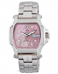 QUARK2: square, diamond, stainless, pink MOP dial, bracelet [Watch] Reactor