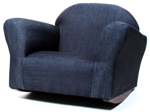 Fantasy Furniture Bubble Rocking Chair, Denim