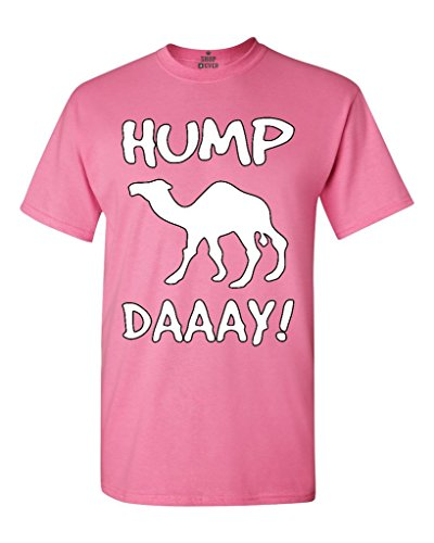 Shop4Ever Camel Commercial Hump Day! T-shirt Funny Shirts Medium Azalea Pink 0