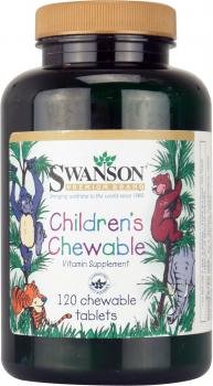 Swanson Childrens Chewable Vitamin Supplement (120 chewable Tablets)