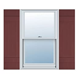 14W x 31H Standard Size Four Board Joined Shutters, w/Installation Screws, 167 - Bordeaux Color: Bordeaux Size: 14W x 31H Model: